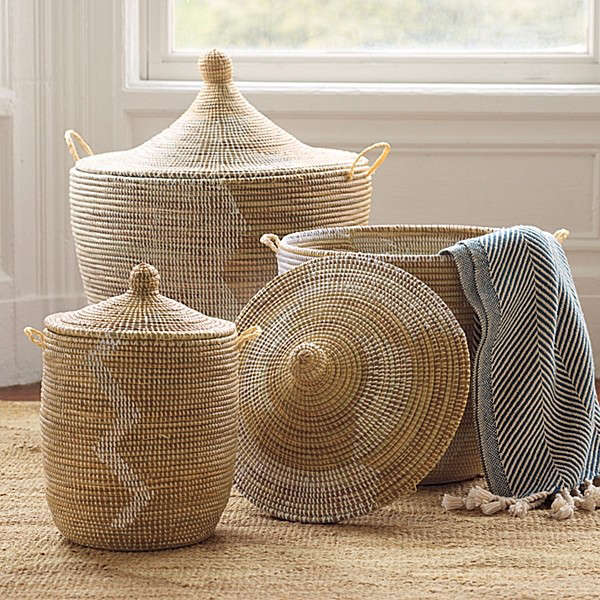 African Baskets With Lids: Senegalese Storage Baskets: Remodelista