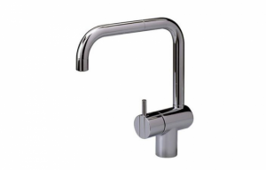 Arne Jacobsen Vola KV1 Mixer Faucet in Nickel | Remodelista
