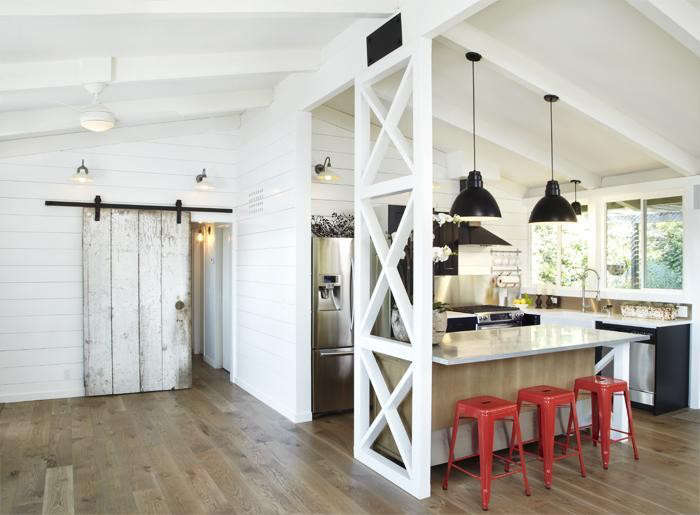 Rehab diaries barn style in marin county remodelista for Modern barn kitchen