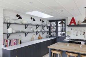 Abby Campbell kitchen with Plain English cabinets | Remodelista