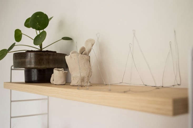 Alessandra Tacci's house, detail shelf