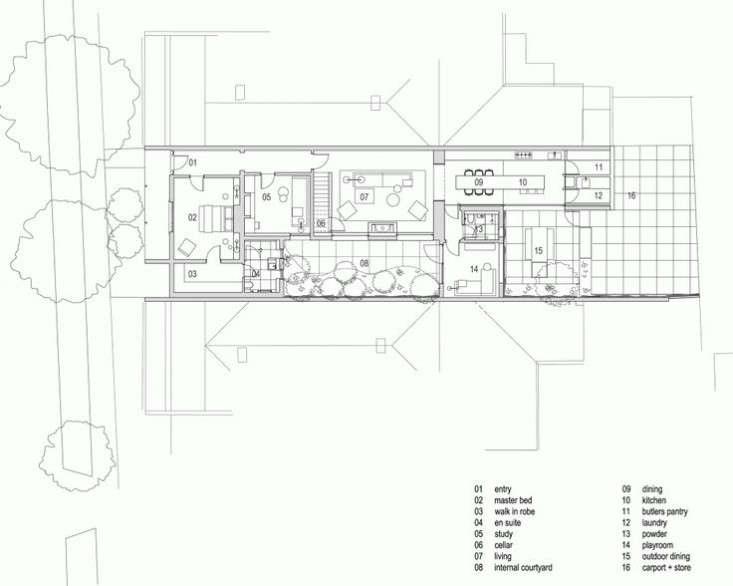 Alfred-Street-Residence-Studio-Four-Australia-Floor-Plan-first-floor-Remodelista