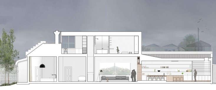Alfred-Street-Residence-Studiofour-longitudinal-section-Remodelista