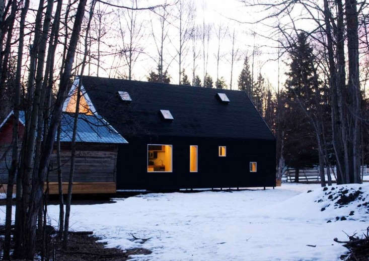 All Black Corrugated Exterior Farmhouse, Remodelista
