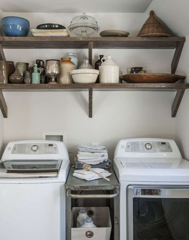 Amanda-Pays-Corbin-Bernsen-laundry-room-shelving-built-from-scaffolding-Remodelista