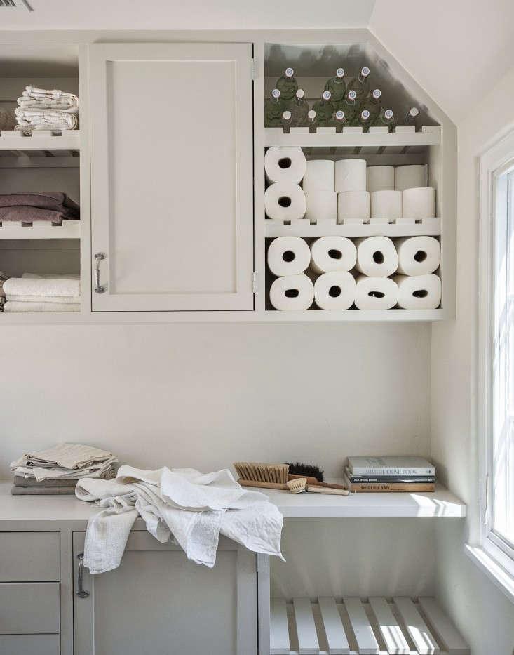 Amanda-Pays-Corbin-Bernsen-laundry-room-ventilated-shelving-Remodelista