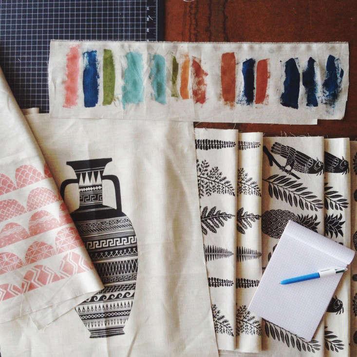 Amelie-Manicini-fabric-samples-Remodelista