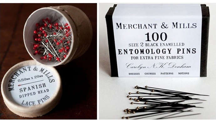 Ancient Industries Spanish Lace Pins and Entomology Pins, Remodelista