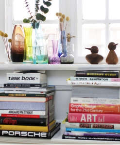 Anne Mette Skodbor, Copenhagen home, books on shelves | Remodelista