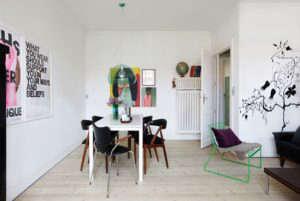 Anne Mette Skodbor, Cophenhagen home, dining area | Remodelista