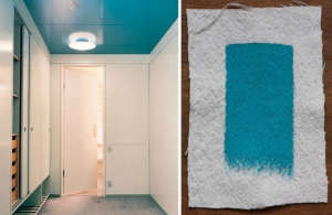 Arne Jacobsen's SAS Royal Hotel in Copenhagen Matched with Sherwin Williams Freshwater, Remodelista