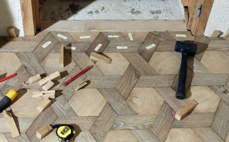 Atelier-des-Granges-floor-in-progress-Remodelista