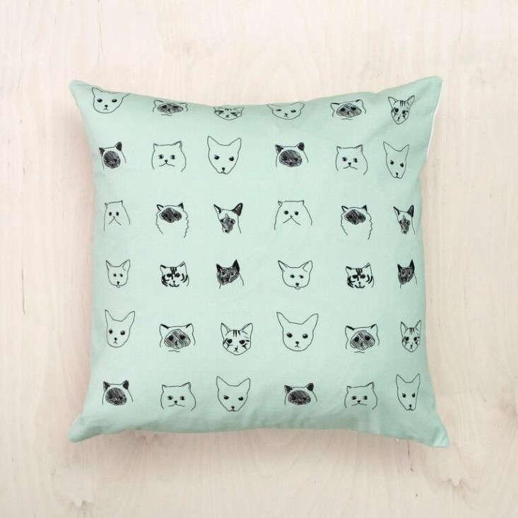 Baines-&-Fricker-cat-cushion-Remodelista