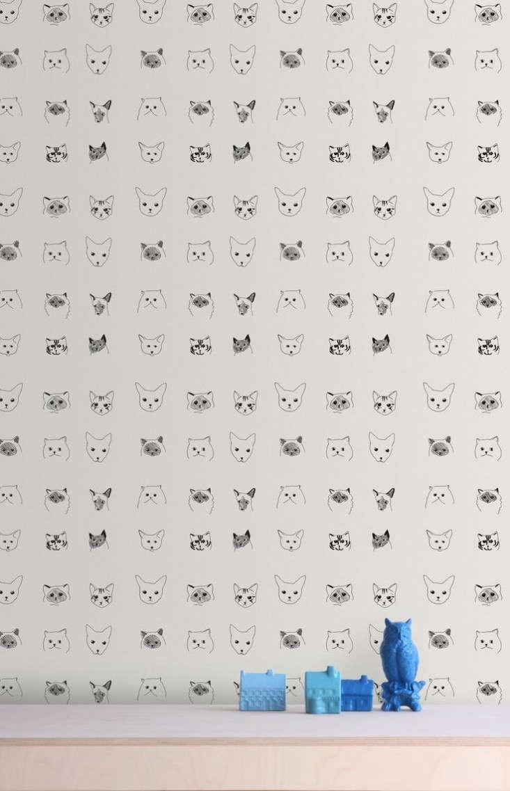 Baines-&-Fricker-cat-wallpaper-Remodelista
