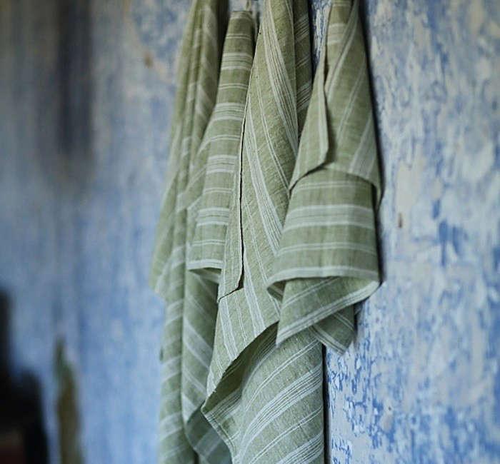 Bath-Towel-Green-Linen-Multistripe-Remodelista