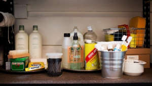 Bathroom and Cleaning Supplies in Closet Organization, Home for the Holidays with The Home Depot, Remodelista