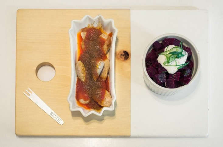 Bestie-Currywurst-signature-dish-with-beets-Remodelista