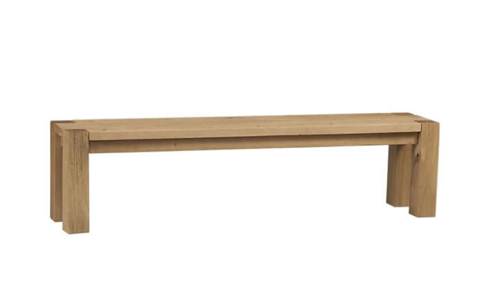 Above: Crate U0026 Barrelu0027s Big Sur Bench In 48 Inches ($699) And In 71.5  Inches ($799) Is Made With European White Oak With A Waxed Finish.
