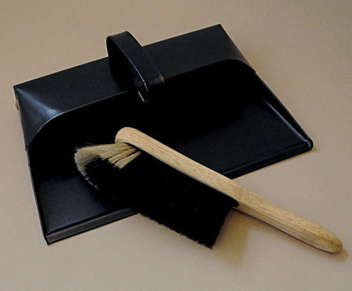 Black-Dustpan-and-Broom-Objects-of-Use