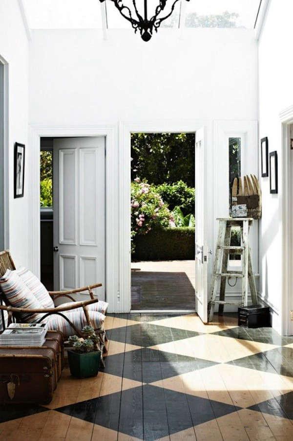 Black-Painted-Stenciled-Floors-Wood