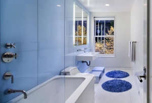 Blue Bathroom by Murphy Burmham & Buttrick, Remodelista