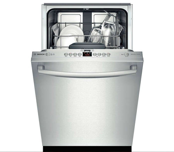 bosch 18 inch fully integrated dishwasher compact appliances - Best Appliances For Small Kitchens