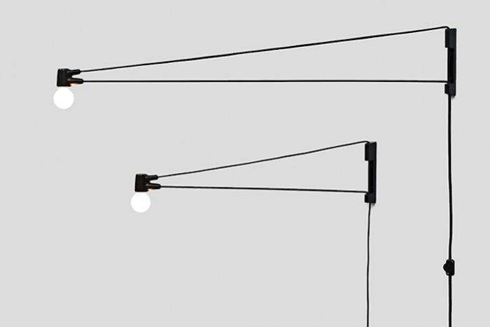 Above: LA-based designer Brendan Ravenhill's Black Cord Lamp features a  cloth electrical cord that provides enough tension to hold the pivoting  steel arm in ... - 5 Favorites: Prouvé-Inspired Swing Arm Lights - Remodelista
