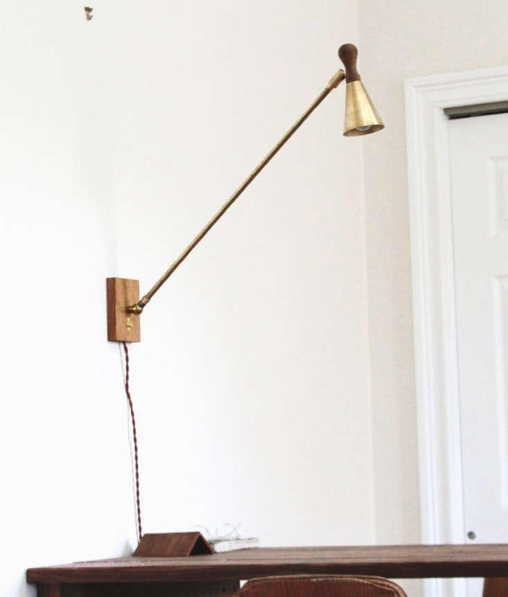 allied maker 39 s brass oak wall lamp remodelista. Black Bedroom Furniture Sets. Home Design Ideas