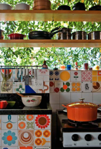 Brazilian patchwork tiled kitchen: remodelista