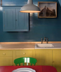 British Standard, multi colored cabinets, Hoxton Showroom | London
