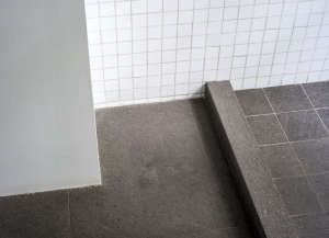 Balsatina floor in Brooklyn bathroom by Fernlund + Logan | Remodelista