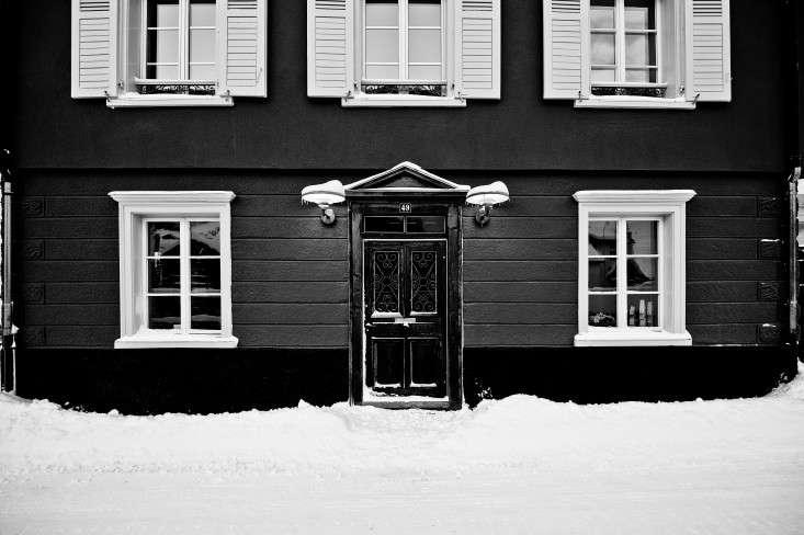 Brucke49-mountain-guest-house-B&B-black-exterior-Vals-Switzerland-Remodelista