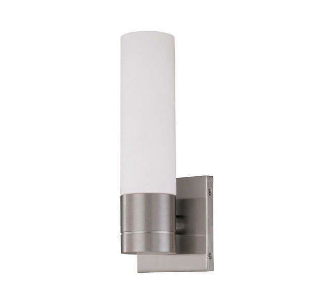 Brushed Nickel Tube Wall Sconce The Home Depot, Remodelista