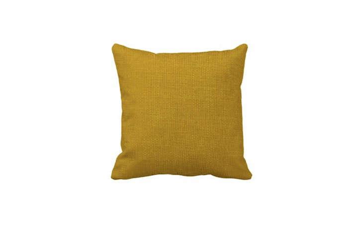 Burlap-Simple-Mustard-Yellow-Throw-Pillows-Zazzle-Remodelista