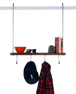 Carlysle Manufacturing Coat Rack and Shelf, Remodelista