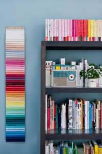 Caroline Gomez, Pastels and Colors in Bordeaux House, Color chart in office | Remodelista