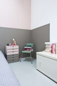 Caroline Gomez, Pastels and Colors in Bordeaux House, Pink and Gray bedroom | Remodelista