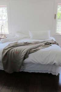 Caroline Z. Hurley Block Printed Linen Throw Blanket I Remodelista