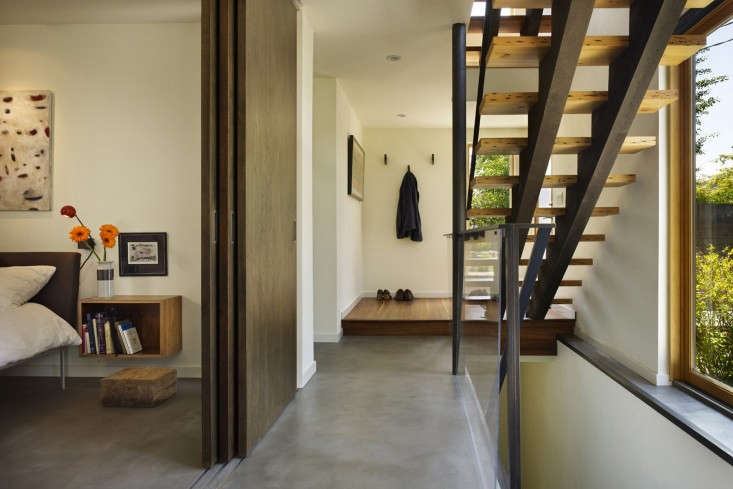 Chadbourne Doss Architects 4 Concrete Floor in Modern House with Contemporary Stair, Remodelista
