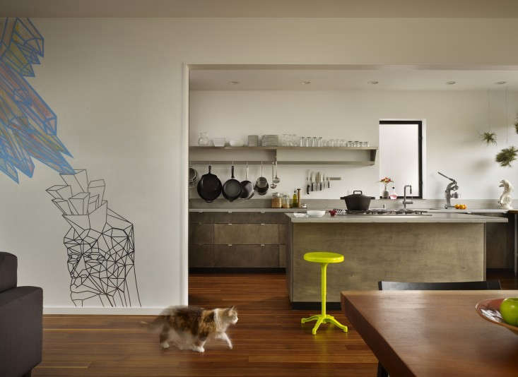 Chadbourne Doss Architects 6 Modern Kitchen with Concrete Island and Open Shelving, Remodelista