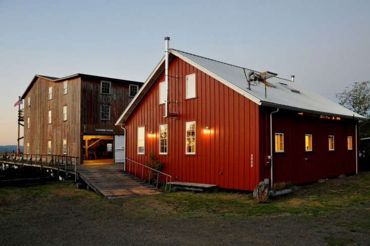 Chadbourne Doss Architects 7 Modern Red Barn at Twlight, Remodelista