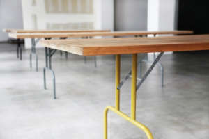 Christina Kim and Lindon Schultz Custom Tables at Chay in Los Angeles | Remodelista
