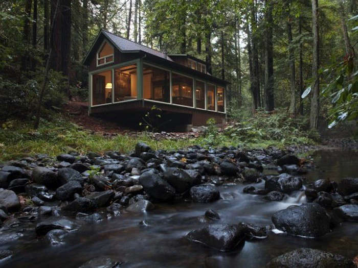 Creekside Cabin by Amy Alper Architect