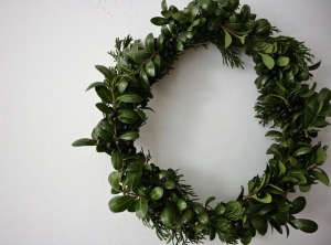 DIY Boxwood and Cedar Wreath, Reading My Tea Leaves, Remodelista