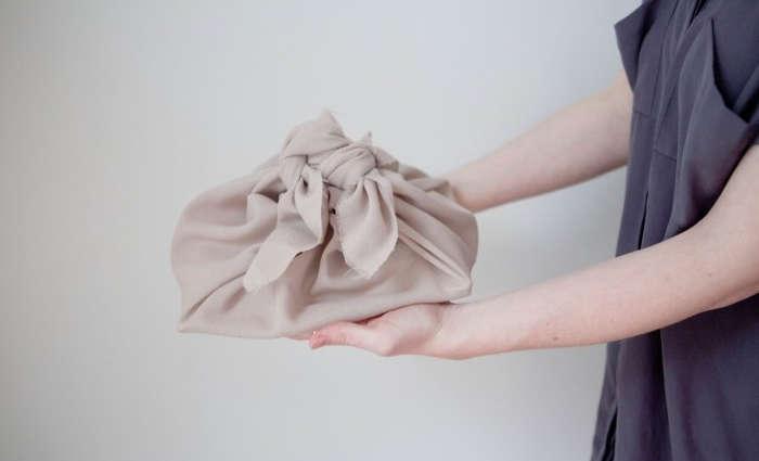 ZeroWaste Wrapping How To Wrap a Furoshiki Cloth Step by Step portrait 3