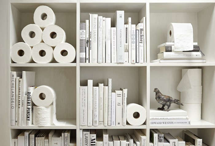 DXV-American-Standard-Whilte-Bookshelves-Bathroom-Mary-Remodelista