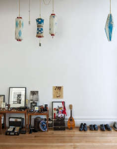 Dagmar Daley and Zak Conway living room detail | Remodelista