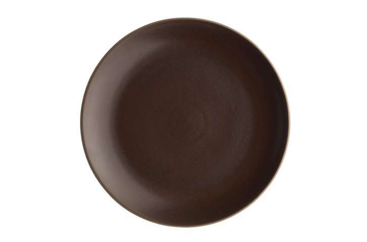 Dinner-Plate-Heath-Coupe-Line-Chocolate-Brown