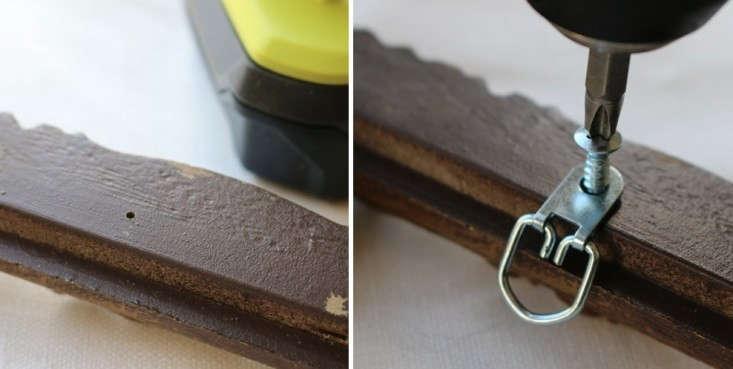 Drilling-d-ring-hardware-into-plastic-vintage-frame-remodelista