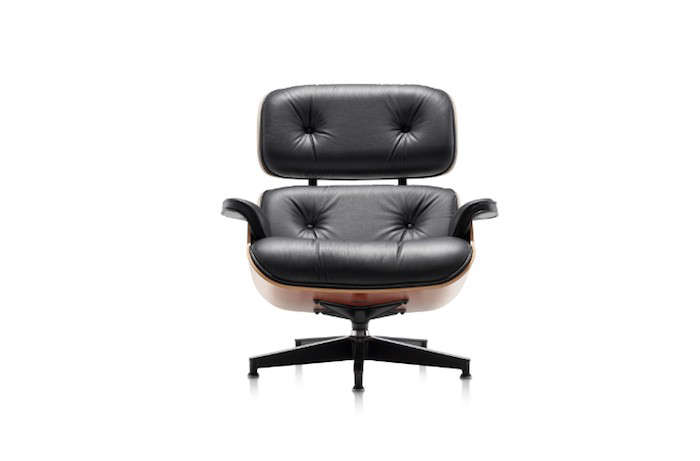 Eames-Chair-Leather-Black